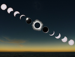 Total Solar Eclipse Sequence Image by Rick Fienberg