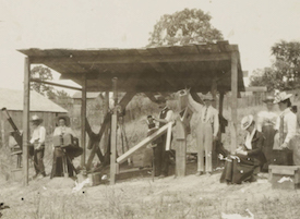 british astronomers in 1900 at Wadesboro NC